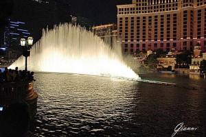 Lo spettacolo delle fontane del Bellagio