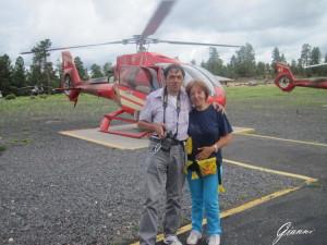 Partenza per il tour sull'elicottero