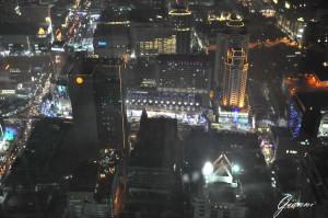 Vista notturna dal Baiyoke Sky Hotel