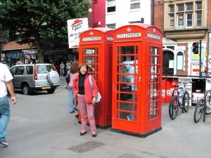 Le famose cabine rosse del telefono
