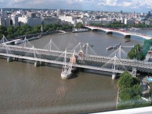 Jubilee Bridge dal London Eye
