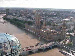 Westminster Palace dal London Eye