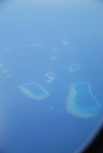 Gli atolli maldiviani visti dall'alto