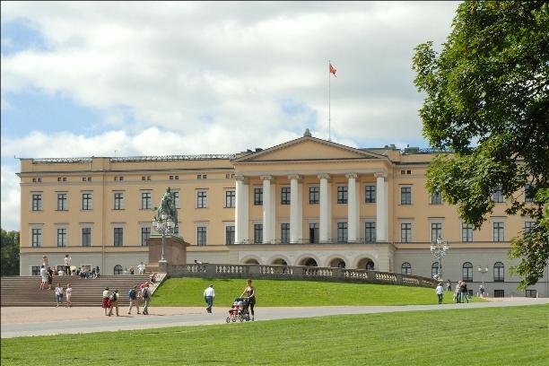 Il palazzo reale a Oslo