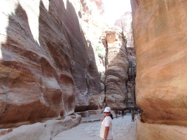 La gola attraverso la quale si accede a Petra