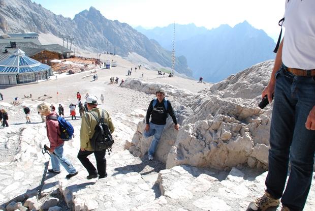 Gianni sul ghiacciaio dello Zugspiz
