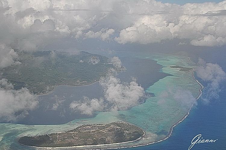 Bora Bora dall'alto
