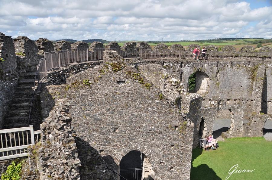Interno del castello di Restormel