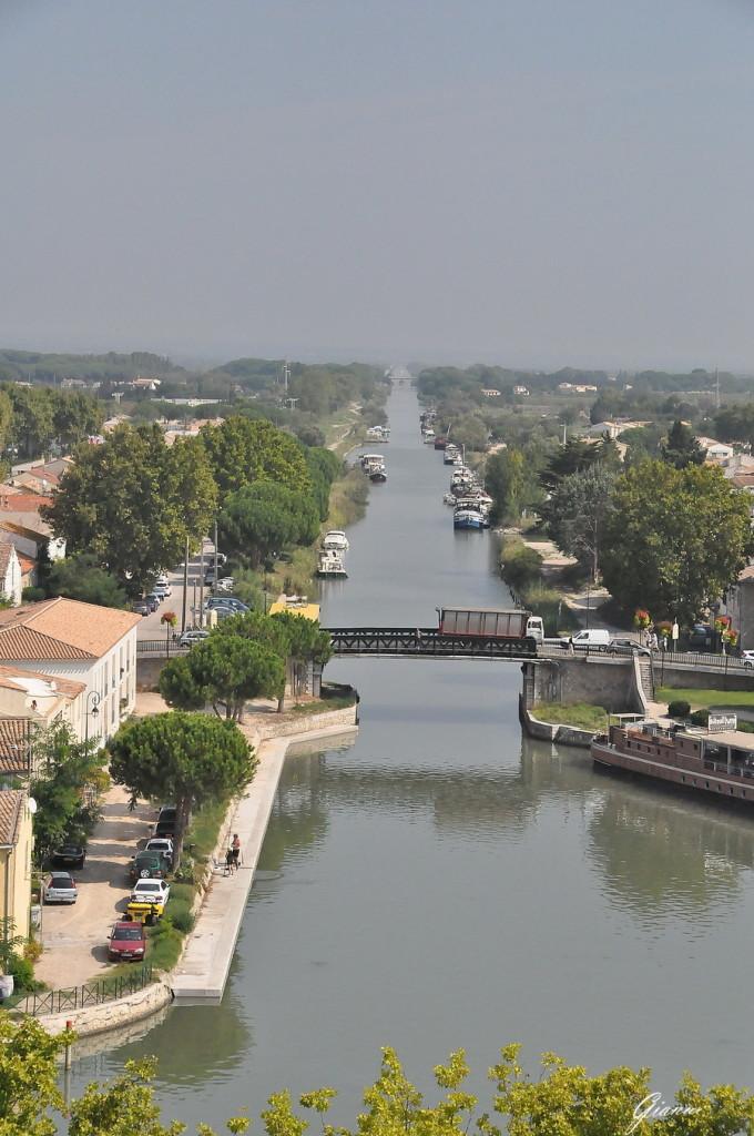 Canale du Midi dalla torre di Costanza