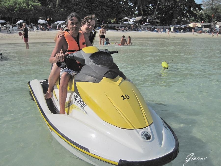 In moto d'acqua