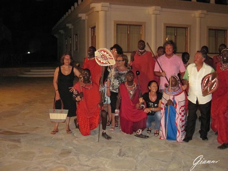 Spettacolo Masai al Twiga Beach Resort