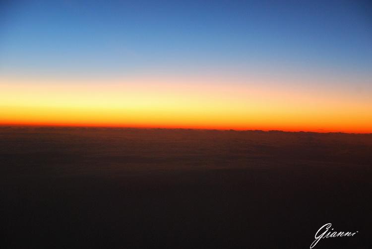 Tramonto tra le nubi africane