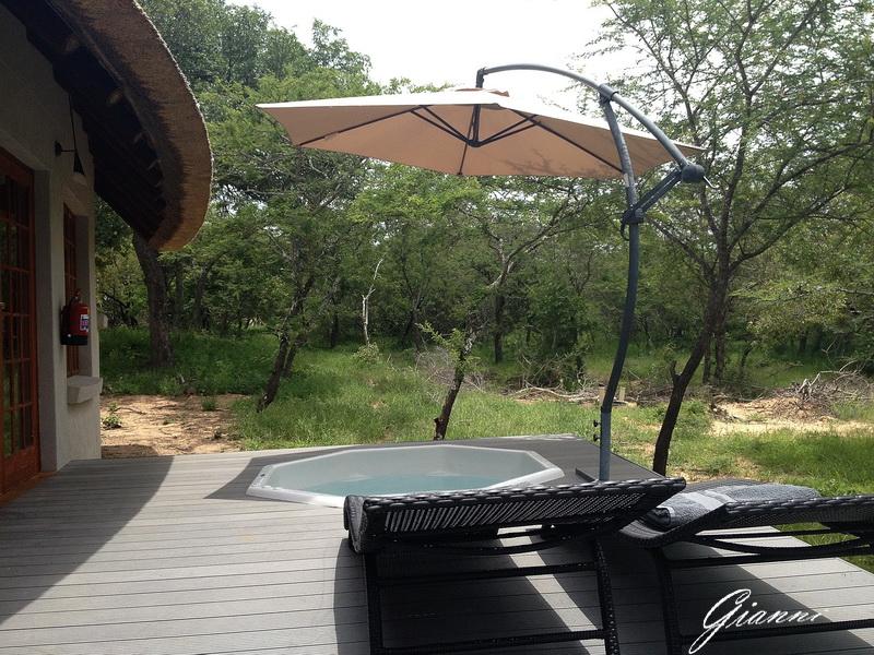 Il patio del nostro bungalow