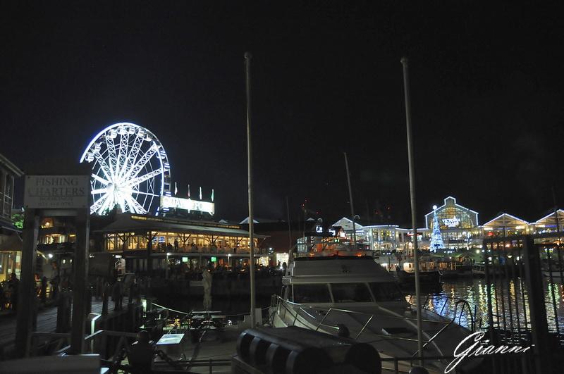 Il Waterfront illuminato