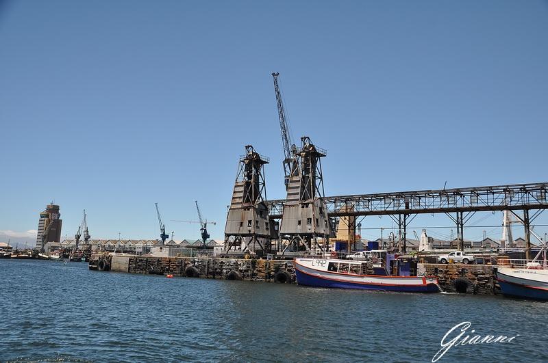 Vecchie gru del porto