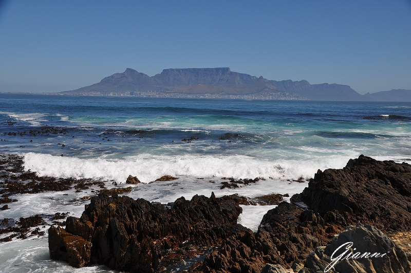 Table Mountain vista da Robben Island