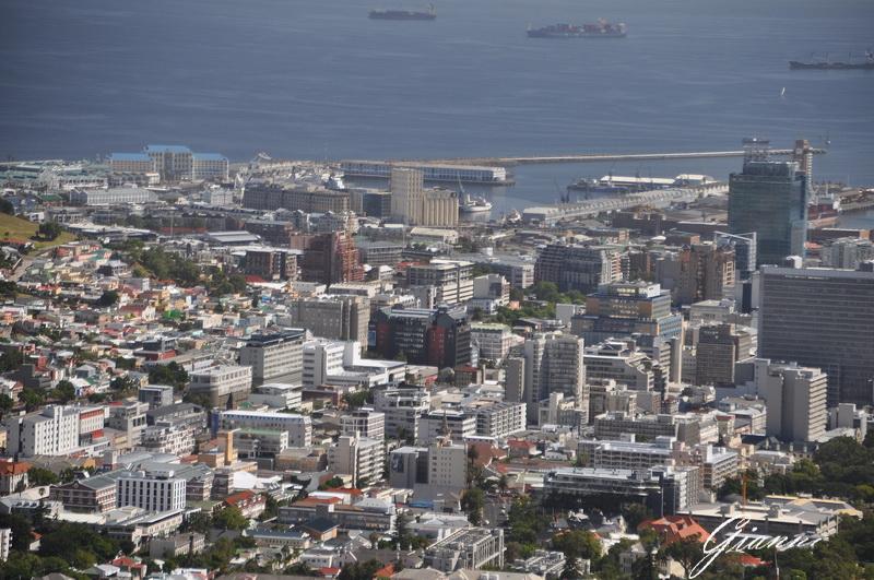 Panorama dalla base della Table Mountain