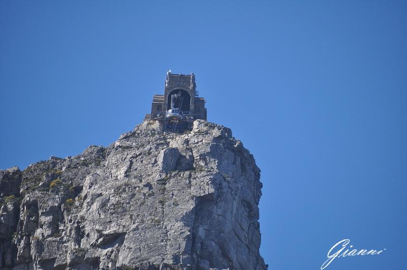 La stazione di arrivo della funivia Table Mountain
