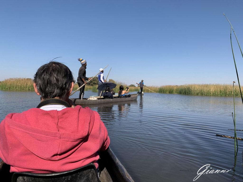 Sull' Okavango con il mokoro