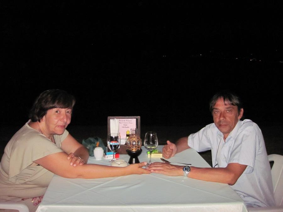 Cena sulla spiaggia a Koh Samui