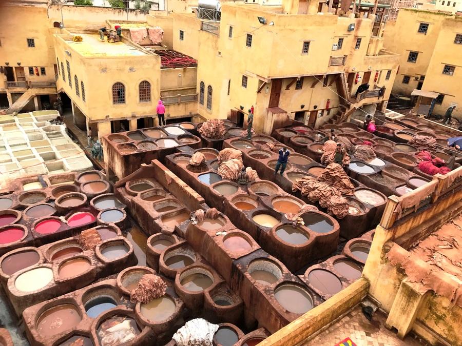 Concerie di Fes - Viaggio in Marocco