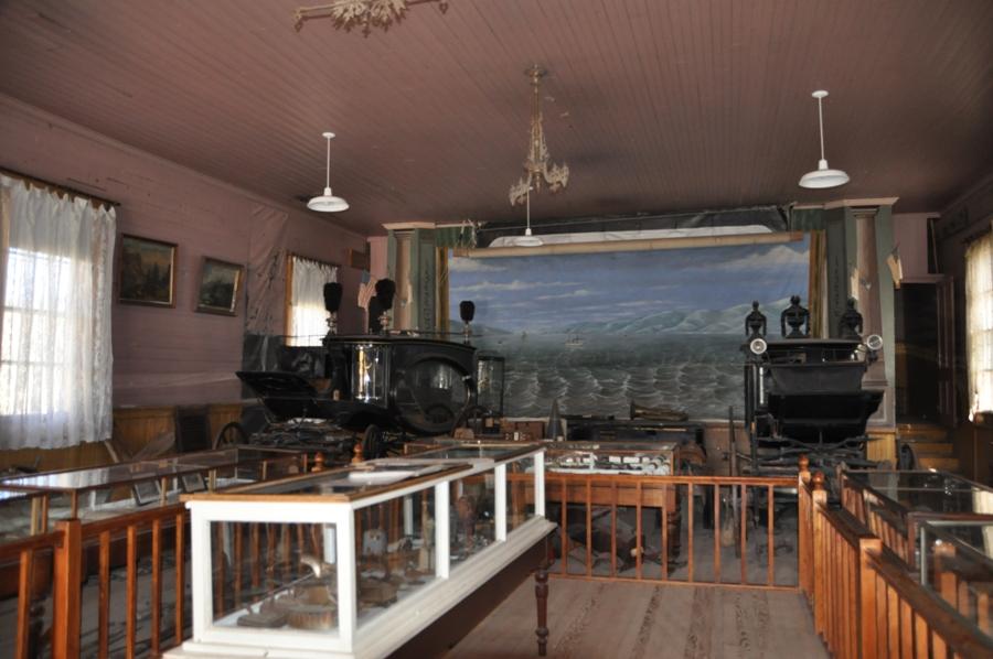 L'interno del Museo a Bodie, città fantasma