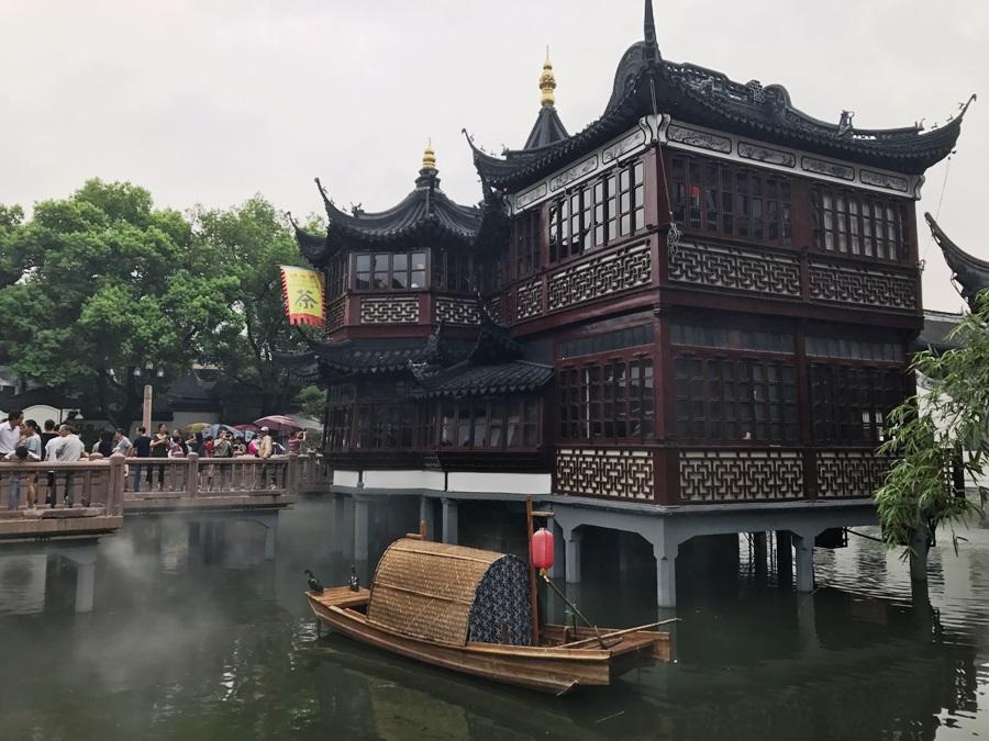 Nei pressi di Yu Garden a Shangai