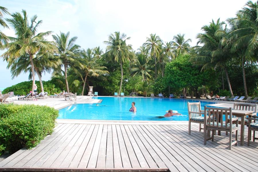 Piscina del Meeru Island Resort