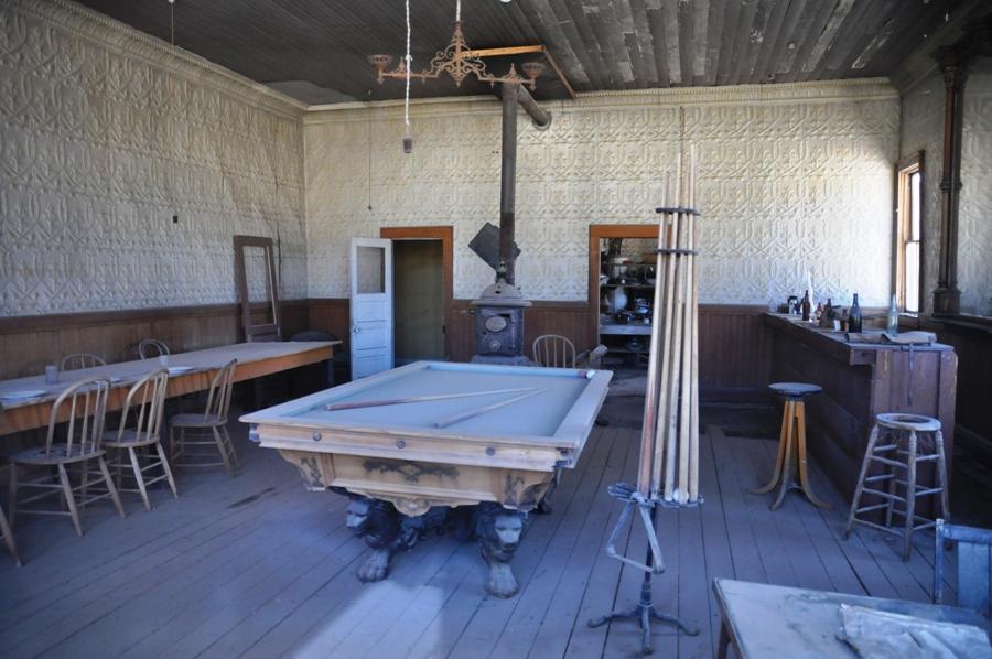 Il saloon di Bodie, città fantasma
