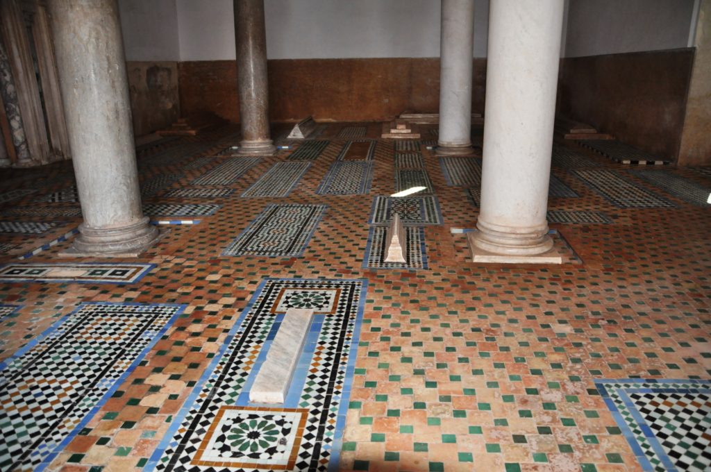 Tombe Saadiane a Marrakech Marocco