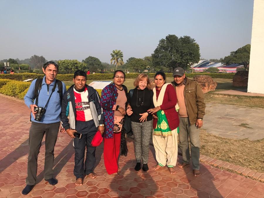 Con una famigliola nepalese