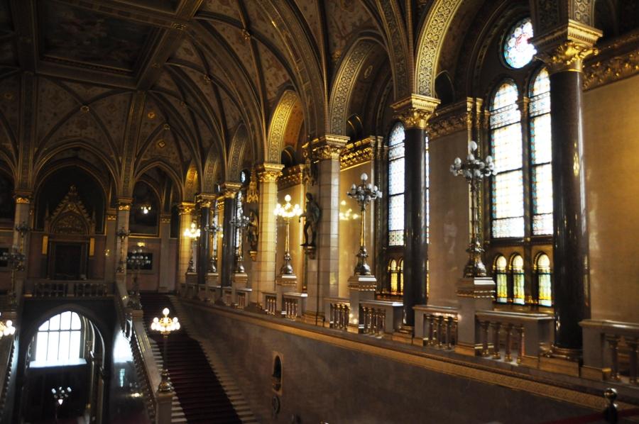 interno del Parlamento di Budapest