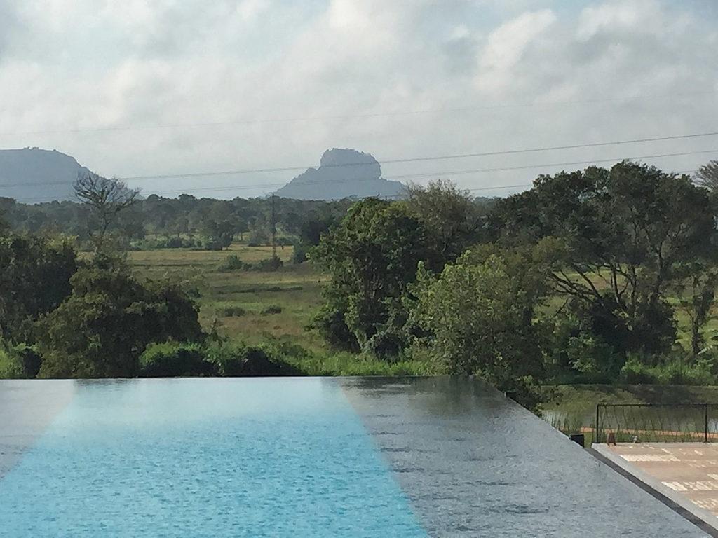 La rocca di Sigiriya dal nostro hotel