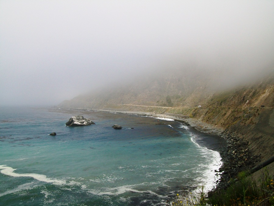Highway 1 Nella nebbia