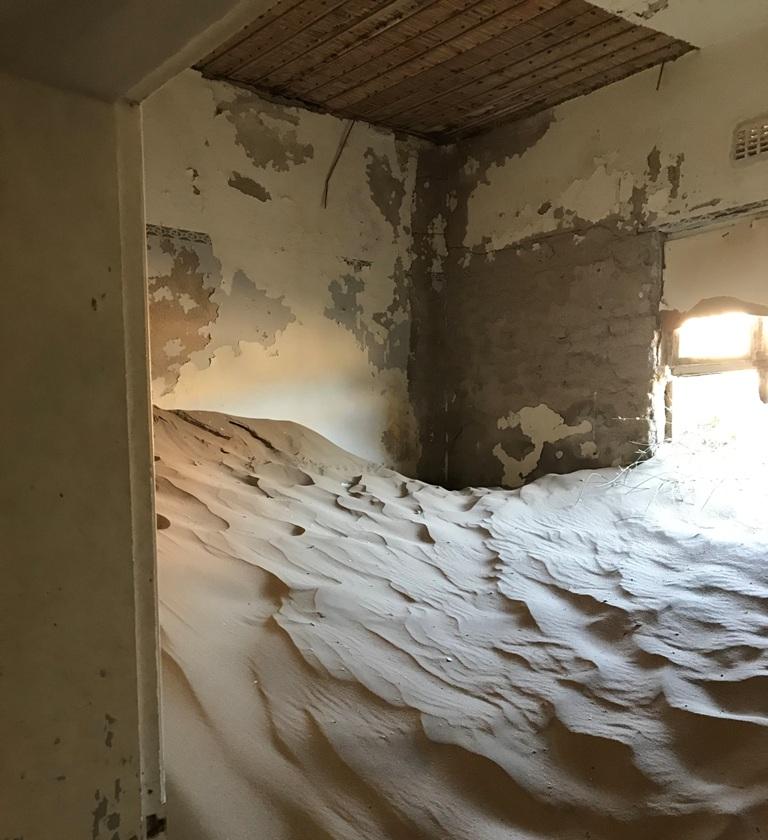 Sabbia all'interno di un edificio
