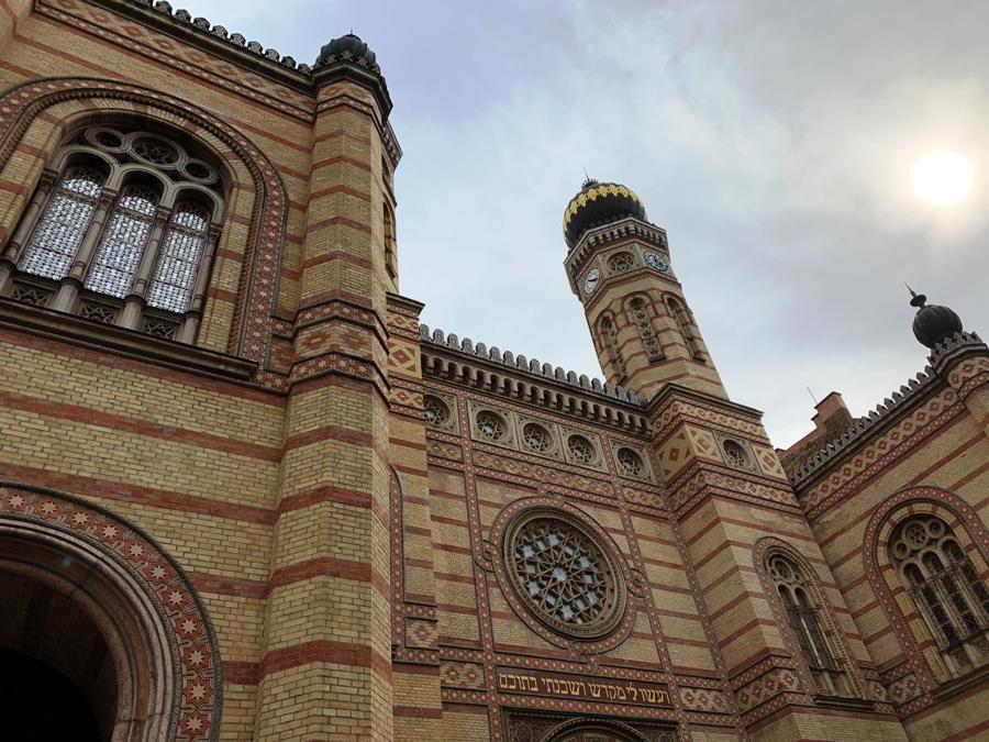 Facciata della Sinagoga di Budapest