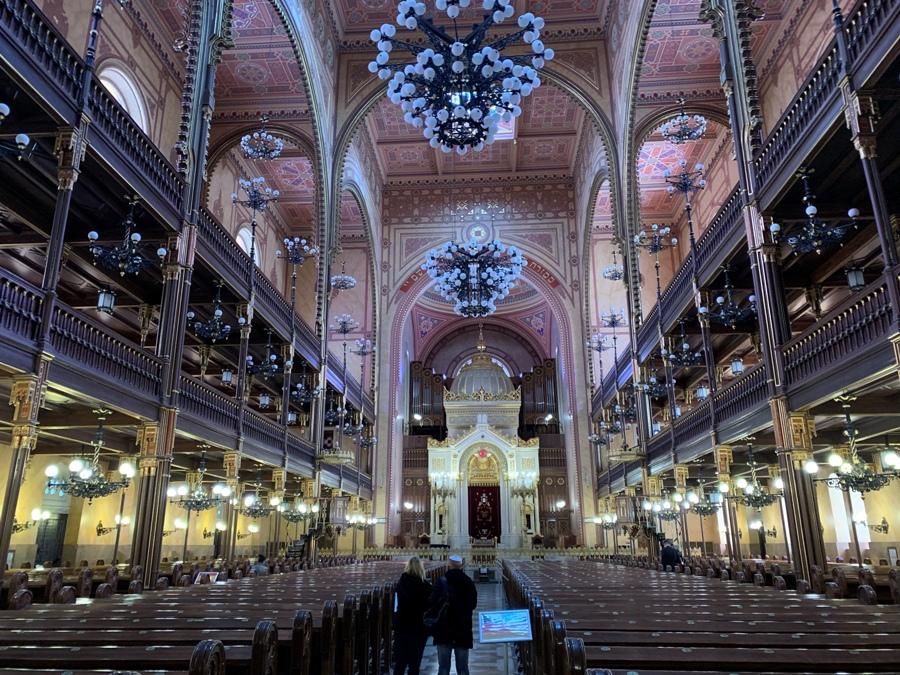 Interno della Sinagoga di Budapest
