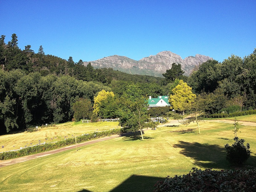 Panorama a Stellenbosch