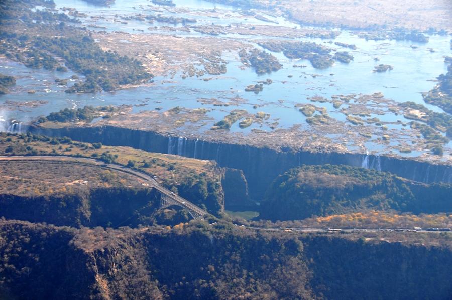 Victoria Falls dall'elicottero