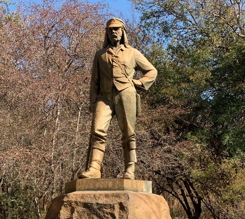 La statua di David Livingstone nel Parco