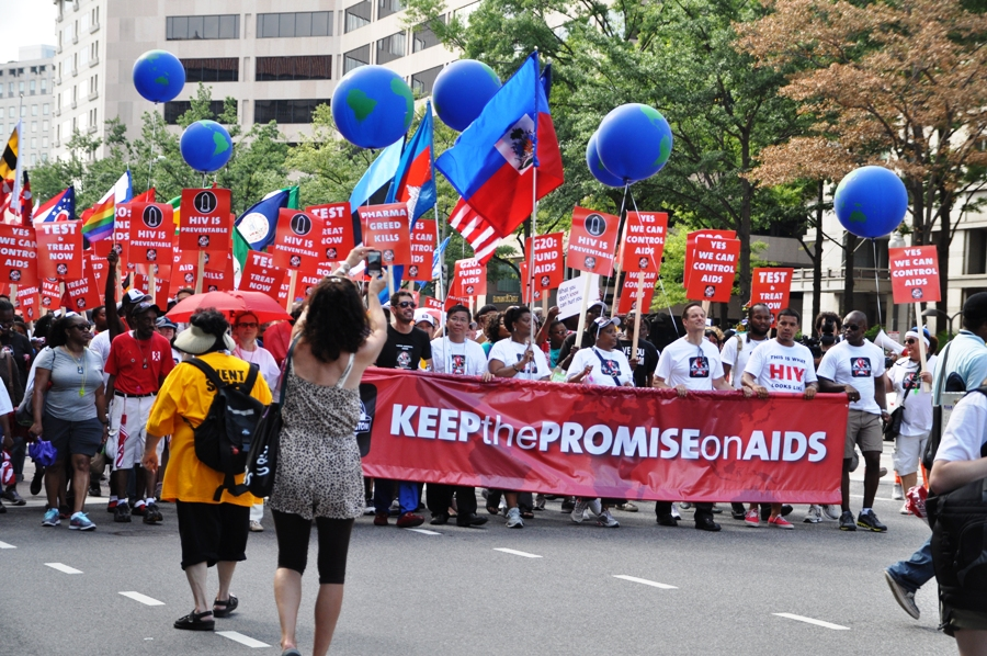 Manifestazione contro l'AIDS