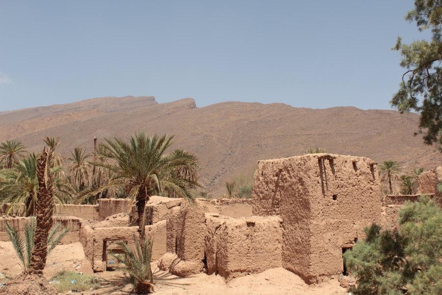 Vecchi ksar non abitati nel Marocco del Sud