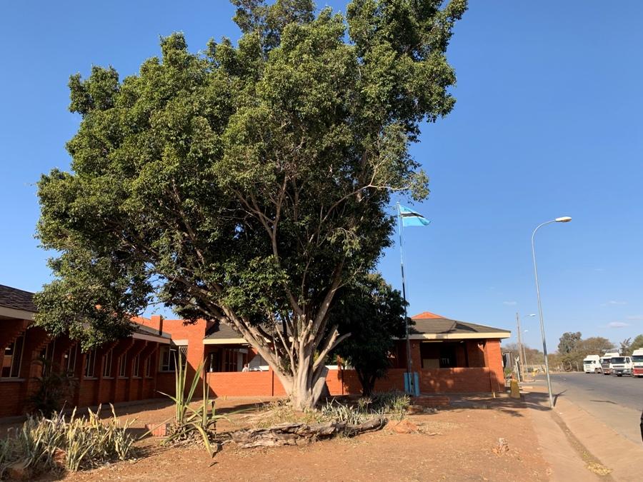 Posto di confine in Botswana