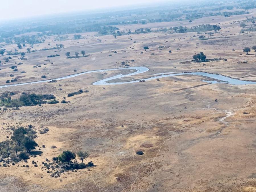 Delta dell'Okavango dall'alto