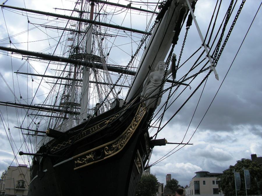 Il Cutty sark a Greenwich