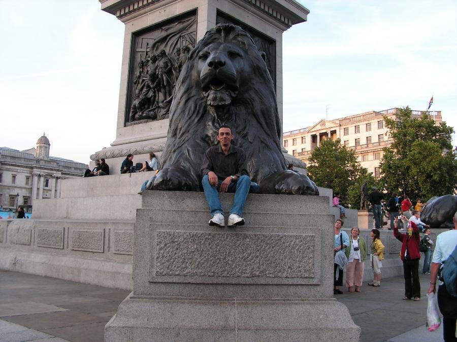 I leoni di Trafalgar Square a Londra