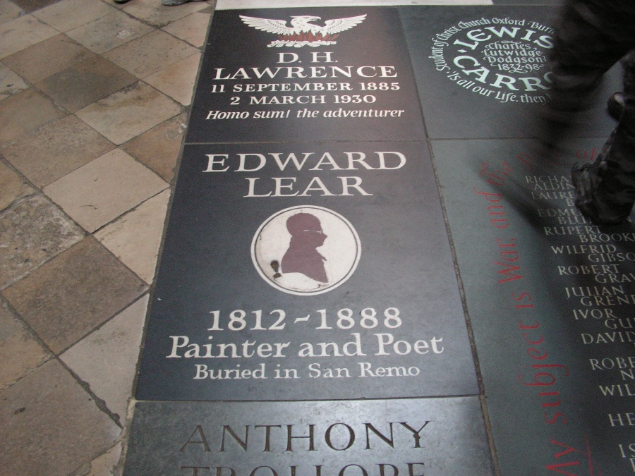 Poets' Corner a Westminster Abbey