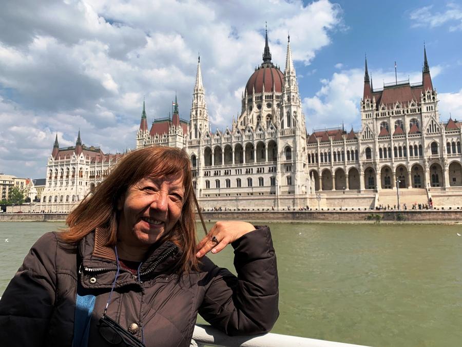 Parlamento di Budapest dal Danubio