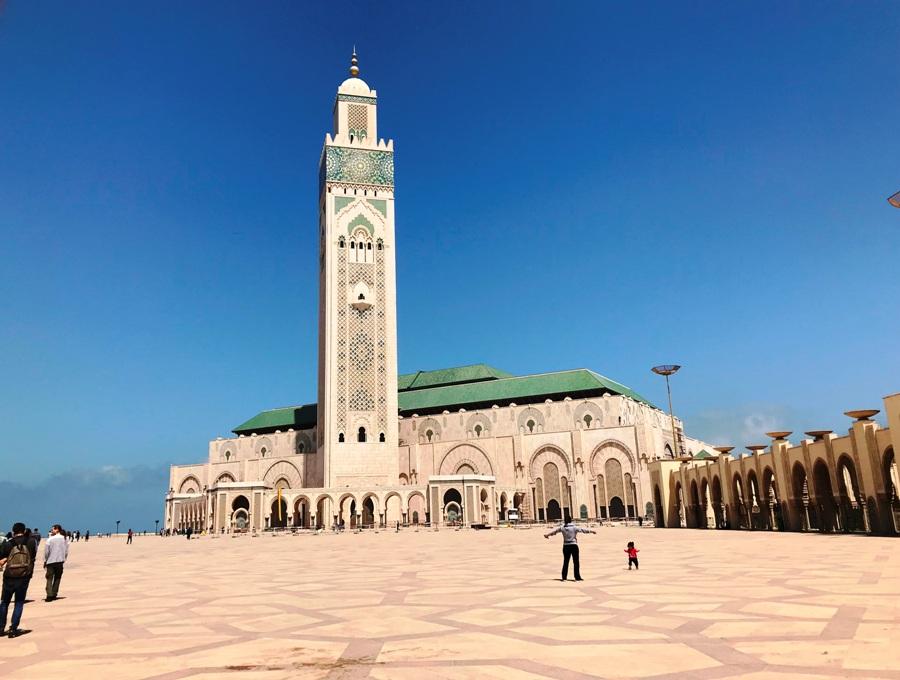 Itinerario di viaggio in Marocco La Moschea di Casablanca