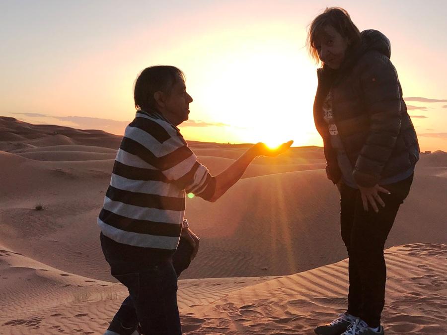 Itinerario di viaggio in Marocco Tramonto a Merzouga